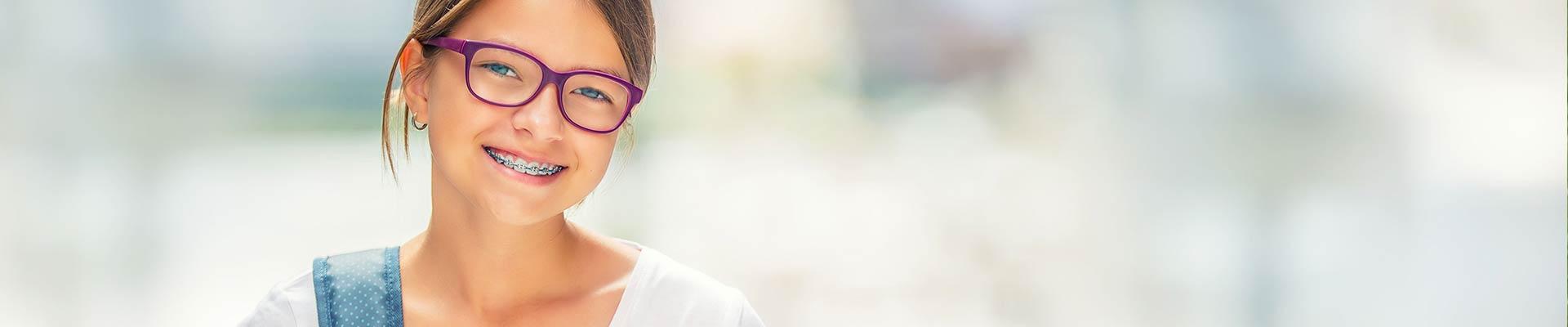Girl with braces Cherre Orthodontics Ellisville MO